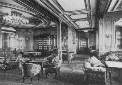 Titanic photos for 1ere classe salon